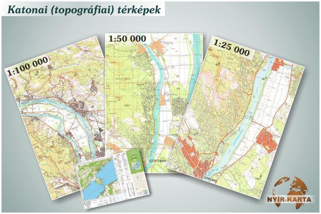 Katonai (topográfiai) térképek