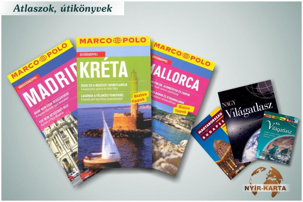 Atlaszok, útikönyvek